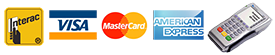 Delivery Master accepts Interac, Visa. MC, Amex in Kelowna