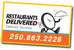 Link to Restaurants Delivered website... partnered with Delivery Masters Kelowna